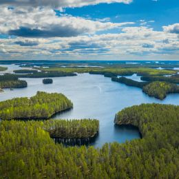 Petkeljärvi maisemakuva ilmakuva 2